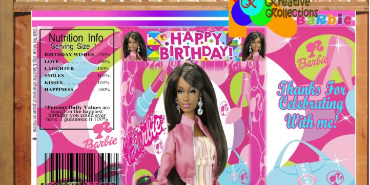 photo relating to Printable Chip Bags known as African American Barbie Printable Chip Baggage Instantaneous Obtain